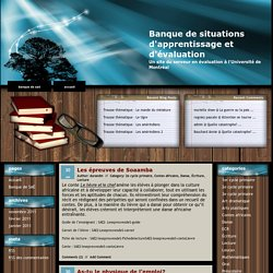 Banque de situations d'apprentissage et d'évaluation » Lecture