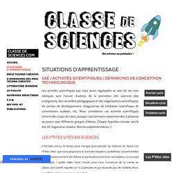 Situations d'apprentissage - Classe de sciences.com