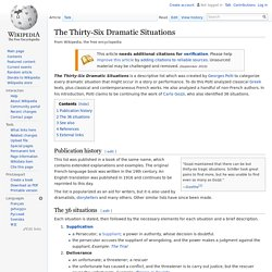 The Thirty-Six Dramatic Situations - Wikipedia, the free encyclopedia