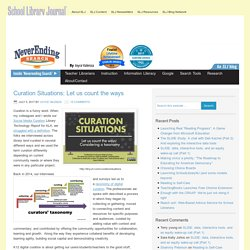Curation Situations: Let us count the ways - NeverEndingSearch