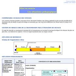 Course de relais - Collège cycle central - Les situations pédagogiques -