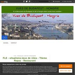 FLE - situations/Jeux de rôles - Thème Repas - Restaurant - Vues de Budapest - Hongrie