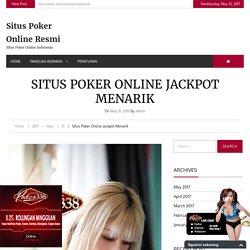 Situs Poker Online Jackpot Menarik
