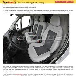 Auto-Sitzbezüge, die für den ultimativen Schutz geeignet sind