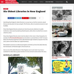 Six Oldest Libraries in New England