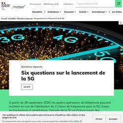 Six questions sur le lancement de la 5G