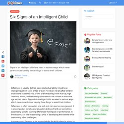 Six Signs of an Intelligent Child