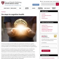 Six steps to cognitive health
