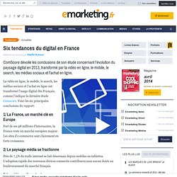 Six tendances du digital en France