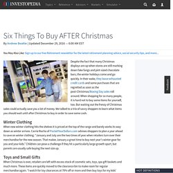 Six Things To Buy AFTER Christmas