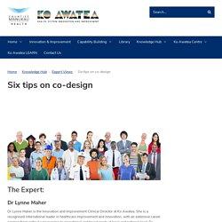 Six tips on co-design