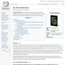 Six-Word Memoirs - Wikipedia