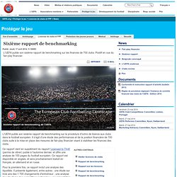 Sixième rapport de benchmarking - UEFA.org