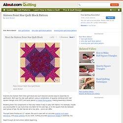 Sixteen Point Star Quilt Block Pattern