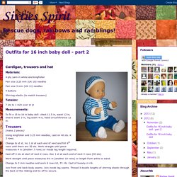 Sixties Spirit: Outfits for 16 inch baby doll - part 2