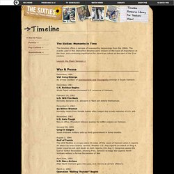 The Sixties . Timeline . Text Version
