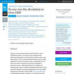 No one-size-fits-all solution to clean GBIF