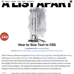 How to Size Text in CSS