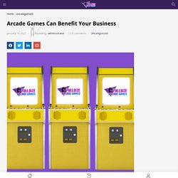Full Sized Arcade Games Can Benefit Your Business