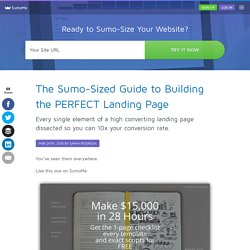 The Sumo-Sized Guide to Building the PERFECT Landing Page