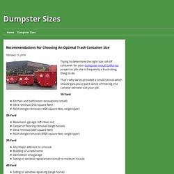 Dumpster Rental Bakersfield CA