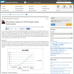 Why Sizing matters for SAP Design Studio Perfor...