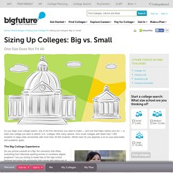 Sizing Up Colleges: Big vs. Small