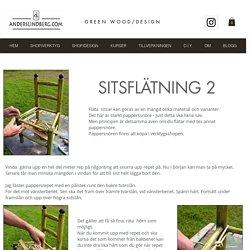 Gör det själv, DIY, Fläta sits med pappersnöre