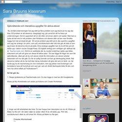 Självrättande och interaktiva uppgifter för aktiva elever
