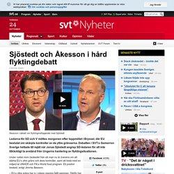 Sjöstedt och Åkesson i hård flyktingdebatt