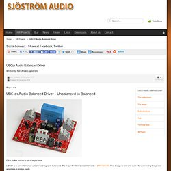 Sjöström Audio - UBC01 Audio Balanced Driver