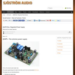 Sjöström Audio - QSXPS Rev.1 Regulated Power Supply