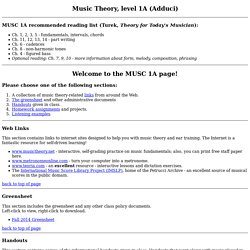 SJSU - Music Theory, level 1A