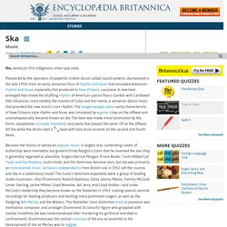 music - def. z Encyclopedia Britannica