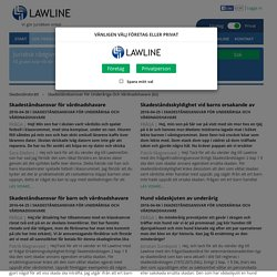 Skadeståndsrätt - Skadeståndsansvar För Underåriga Och Vårdnadshavare - Lawline