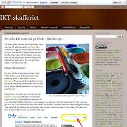 Att söka CC-material på Flickr - lite klurigt...