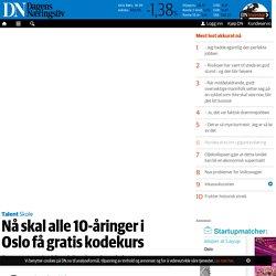 Nå skal alle 10-åringer i Oslo få gratis kodekurs