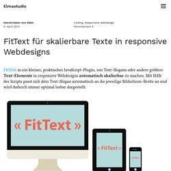 FitText für skalierbare Texte in responsive Webdesigns – Elmastudio