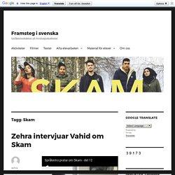 Skam – Framsteg i svenska