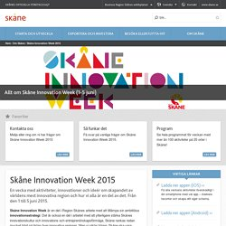 Skåne Innovation Week 2015
