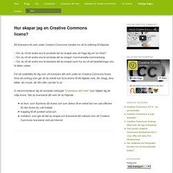 Hur skapar jag en Creative Commons licens?