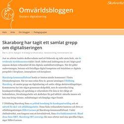 Skaraborg har tagit ett samlat grepp om digitaliseringen