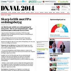Skarp kritik mot FP:s ordningsbetyg