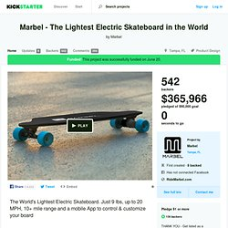 Marbel - The Lightest Electric Skateboard in the World by Marbel
