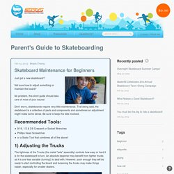 Skateboard Maintenance for Beginners