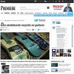 Des skateboards recyclés en guitares