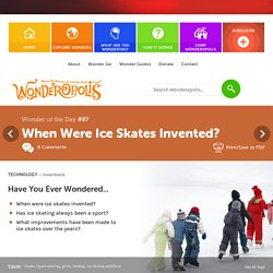 When Were Ice Skates Invented?