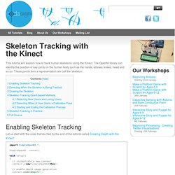 Skeleton Tracking with the Kinect - Learning