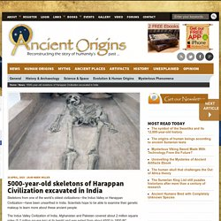 5000-year-old skeletons of Harappan Civilization excavated in India