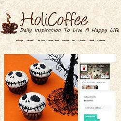 Jack Skellington Chocolate Cupcake – Best Cheap Halloween Party Food For Kid - HoliCoffee
